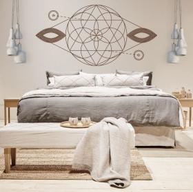 Decorative vinyl geometric shapes