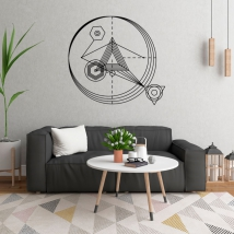 Decorative vinyl triangles with strokes and circles