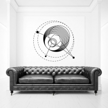 Decorative vinyls with strokes and circles