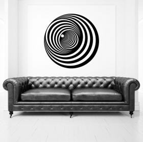 Decorative vinyl circles optical effect