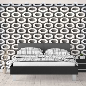 Wall murals pipes optical effect